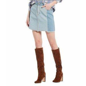 C&V Chelsea & Violet Patchwork Denim Skirt size 25
